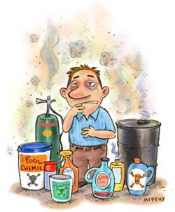 Multiple Chemical Sensitivity allergie cartoon